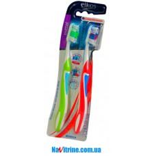 Набор зубных щеток Elkos мягкие, набор 2 шт