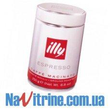 Кофе молотый illy Espresso 250 г, MEDIUM (средняя обжарка), банка 250 г