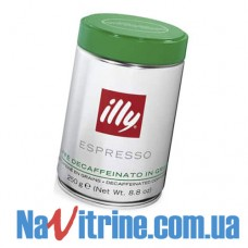 Кофе в зернах illy Espresso DECAFF (без кофеина), банка 250 г.