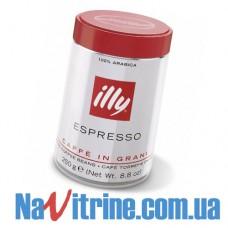 Кофе в зернах illy Espresso normal (нормальная обжарка), банка 250 г.